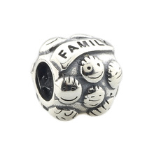 Wholesale Love & Family Mother & Children Authentic 925 Sterling Silver Charm for European Bracelet