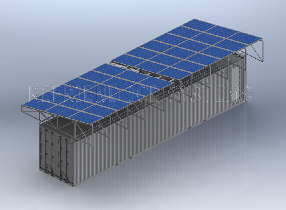 l 39 nergie solaire 40ft conteneurmoto chambre froide. Black Bedroom Furniture Sets. Home Design Ideas