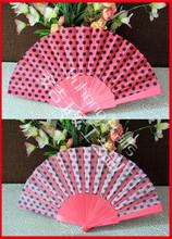 Fabric hand fan Dot design