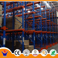 Warehouse forklift iron rack prices drive-in pallet racking