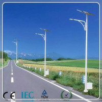 double arm solar street light 80w 6m led solar street light 8m pole optional