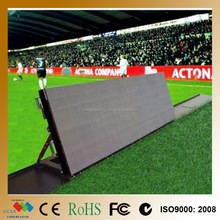 Customized Size High Brightness Outdoor P10 RGB Color LED Advertising Board Stadium, LED Soccer Substitution Board