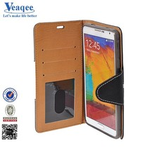Veaqee new design mobile phone leather case for samsung galaxy note 4
