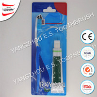 handy packaging toothpaste and toothbrush kit