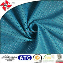 blue 100%polyester breathable soccer jersey fabric wholesale