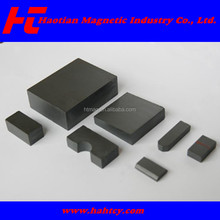 Strong power ferrite block magnets