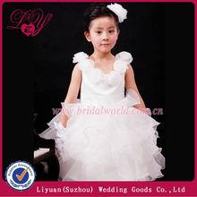 2014 fashional y hermoso flores cenicienta vestidos de niña