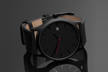 YB new arrival trending factory price custom logo ODM/OEM leather watches brown black