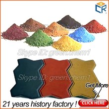 Good supplier offer synthetic Fe2o3 95% iron oxide red 130 and yellow 920 for making paint/brick asphalt/concrete coloring