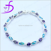 925 Sterling Silver Opal Bracelet Middle East Hot sale Fashion Bracelet