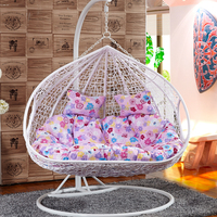 outdoor furniture double seats rattan egg hanging chair nest swing ORW-1006A