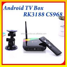 RK3188 Quad Core 2G RAM 8G ROM Best Google Digital XBMC/KODI Stream Smart TV box With 2.0MP Camera
