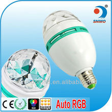IP44 home decor led light E27 RGB 3w led bulb disco party light