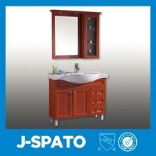 2015 uevo modelo espejo mueble de baño con luz y baño esquina gabinete/modelo for JS-C006