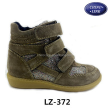 Middle heel height increasing children durable winter boots shoes