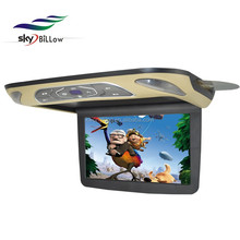 12inch HD vehicle roofmounted car DVD monitor , flipdown car dvd player,button car dvd player