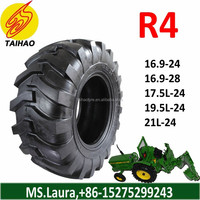 Direct from factory R4 backhoe tire 16.9-24 16.9-28