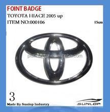 toyota hiace parts front badge 15cm #000106 for hiace van,commuter,kdh200