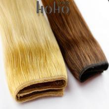 human hair mixed synthetic fiber hair weaving