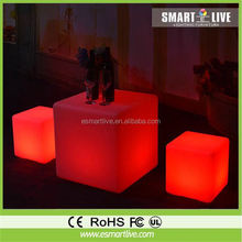 led cube chair outdoor light cube for kinds night club home decoration