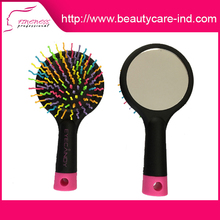 Factory direct sales salon professional colorful hair brush with mirror