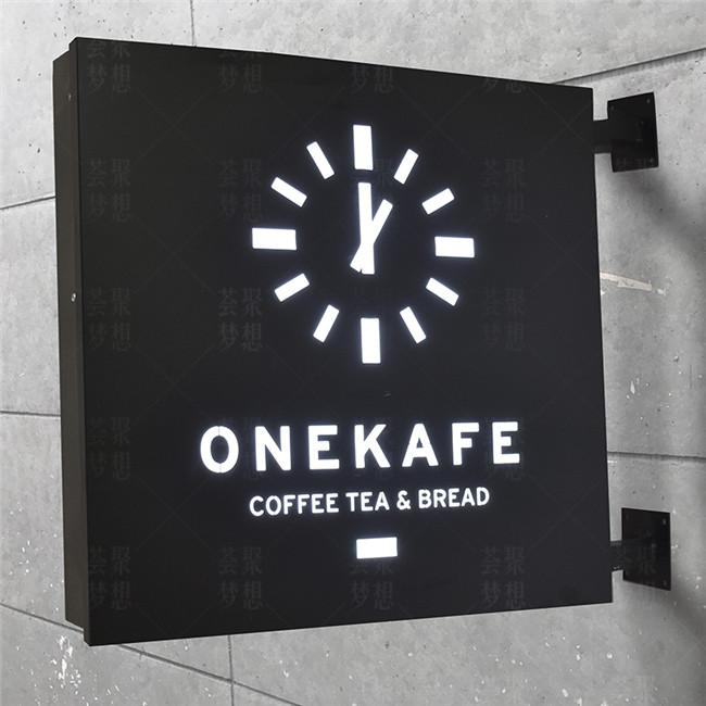 Placas de sinal de Led coffee shop, restaurante placa do menu levou