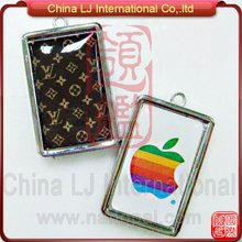 custom brand gem flash drive necklace, customize logo gem necklace pendrive
