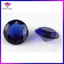 Noble quality sapphire blue round zirconia stone for wedding dress