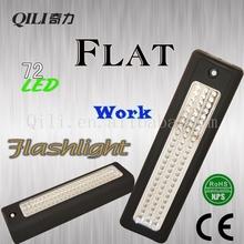 2015 venta al por mayor plana LED linterna, 72 LED linterna de trabajo
