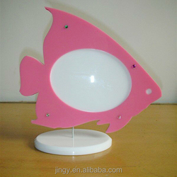 funny lovely fish shaped acrylic handmade photo frame for kids