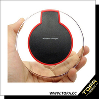 76% High Efficiency Universal Wireless Phone Charger, Qi certified Wireless Mobile Phone Battery Charger