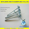 1-3 inch umbrella head twisted roofing nails