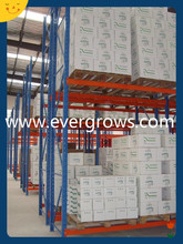 Heavy duty Stackable adjustable pallet racking system with protector at end