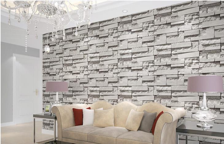 Wallpaper you will receive may have some wrinkles on it or for Brick effect wallpaper living room ideas