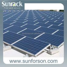 ballast metal frame, flat roof solar panels mount