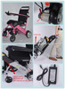 Light weight electric folding wheelchair with lithium battery buyer for the handicapped