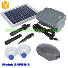Electricity cost free 3LPM maximum air flow rate solar air pump for fish with battery (SAPB5-3)