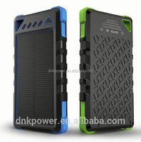 Mobile External Battery Charger USB Portable solar Power Bank 8000mah Made in China