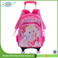 2015 Hot Selling Cute Cartoon Kids Trolley School Bags For Girls
