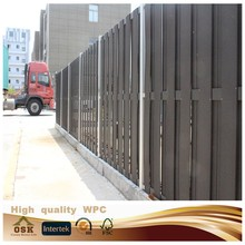 2015 new design outdoor wpc garden fence composite fencing plastic fencing with great price