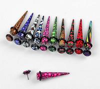 wholesale zebra design Acrylic ear Tapers body Piercing Jewelry