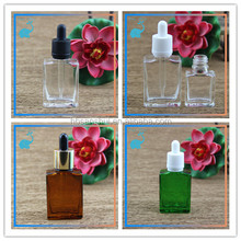 high quality 15ml 30ml basic color glass bottle with glass dropper for e liquid