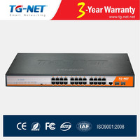 24 ports POE Switch 48V,full managed gigabit poe switch af/at 450Watts support Auto Reboot/SNMP/IGMP/Vlan/QoS with 2 SFP slot