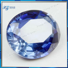 6x6mm Blue sapphire price per carat raw material oval cut 33# blue corundum rough diamond