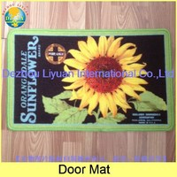 2015 Hot Selling nylon anti slip printed Greeting season TPR backing loop pile printed doormat - DZLY