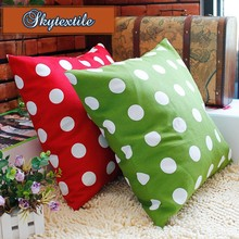 Digital printing spotted dot pillow case, custom made spotted dot pillow case, dye sublimation spotted dot pillow case Sk1543