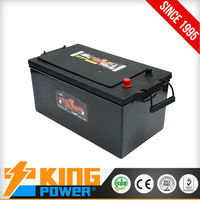 King Power 12V maintenance free automotive batteries DIN200MF 200amp