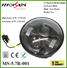 "5.75"" 40W round headlight for motorcycle, harley motorcycle led headlight"