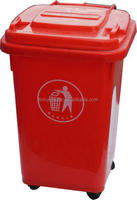 50 liter plastic outdoor recycling waste bin stand with wheels