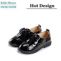 2015 newest design black patent leather children shoes kids school shoes